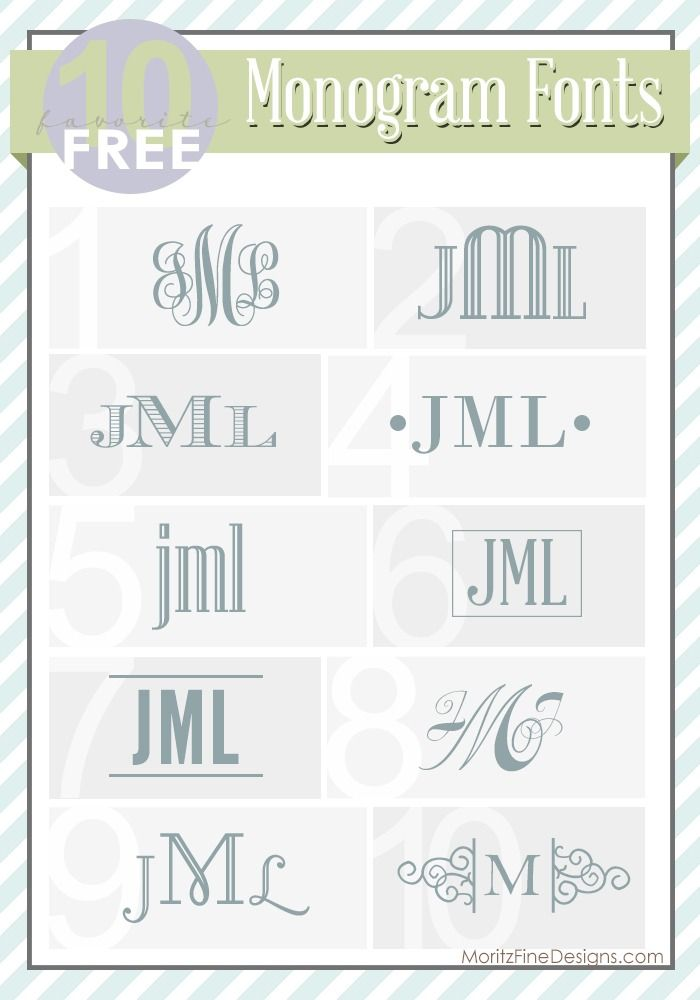 best ever FREE fonts for Monograms! Great ideas on how to use monograms too! | www.MoritzFineBlogDesigns.com