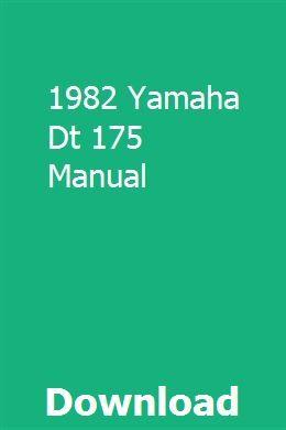 yamaha dt 175 manual download