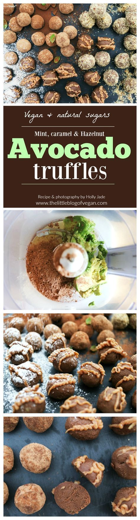 Vegan & guilt-free creamy avocado mint, caramel and hazelnut truffles with a caramel date sauce. Only natural sugars, quick & easy to make and is the perfect Easter gift!