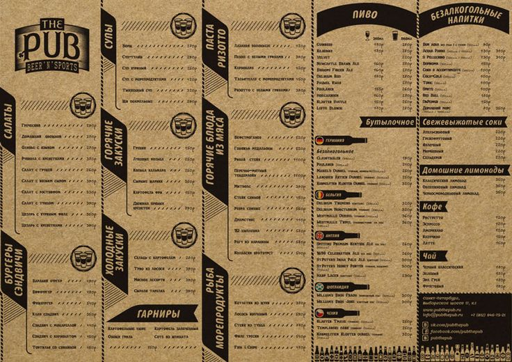 Best images about menus on pinterest typography