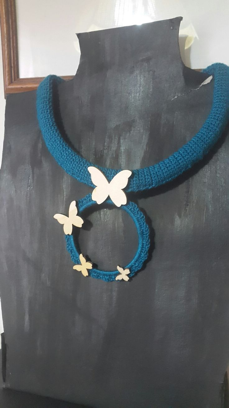 """""""Butterfly"""" Crocheted neckless"""