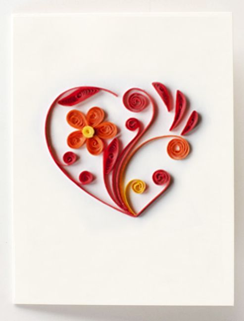 Quilled heart