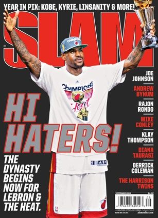 Picture: LeBron James Slam Magazine Cover reads: Hi Haters! « The NBA