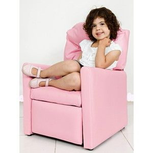 Pink Classic Kids Recliner Arm Chair