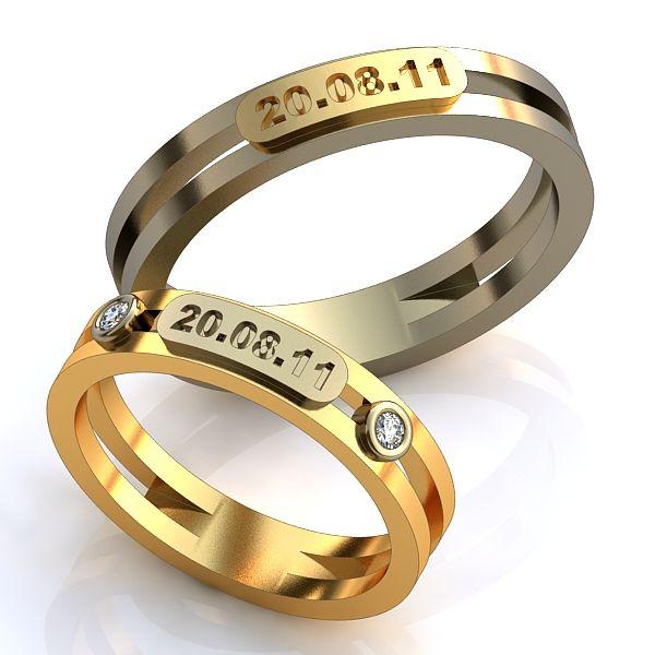 Кольца обручальные парные 585