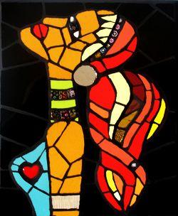 """""""WOMAN"""" Quadro mosaico di piastrelle"""