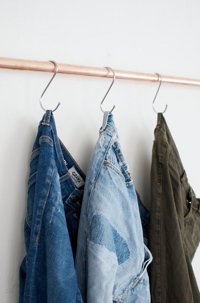 DIY home - put your jeans on hooks