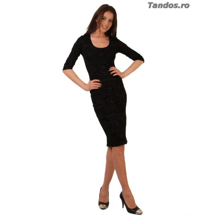 Rochie de ocazie neagra dama colectia Tandos