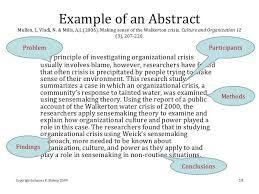 apa abstract template