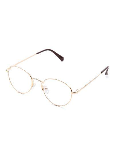 79dabcc354f Gold Frame Clear Lens Retro Glasses