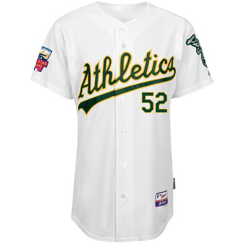 Oakland Athletics Authentic Yoenis Cespedes Home Jersey w/ 2014 All-Star  Patch and Stars