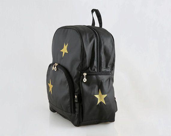 Girls toddler backpack Black girl backpack Stars by starjellyTLV