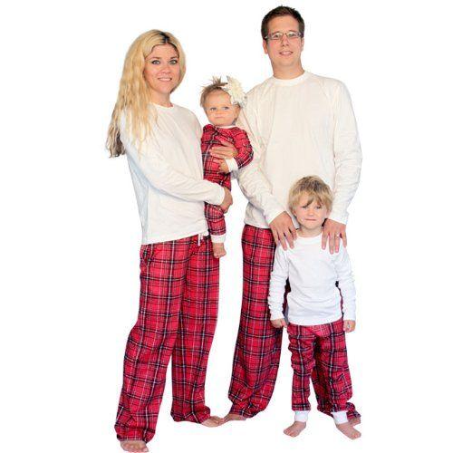 plaid family pajamas