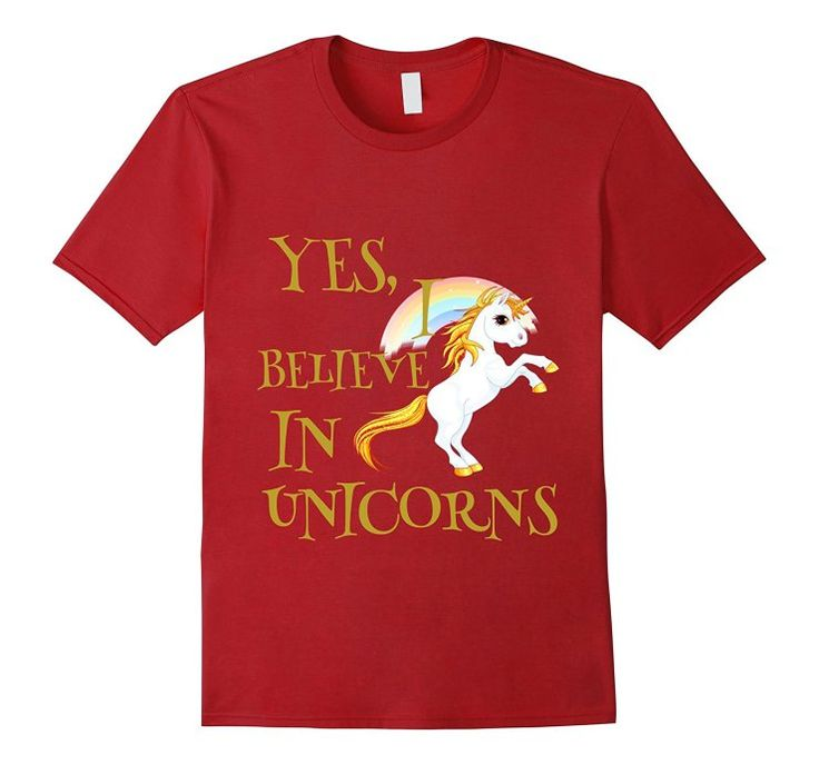 Yes I Believe In Unicorns Magical Rainbow T-Shirt - AHazardDesigns: Graphics, T-Shirts & More #tshirt #shirt #tshirts #shirts #unicorn #unicorns #myunicornlife #pony #mylittlepony #ponytail