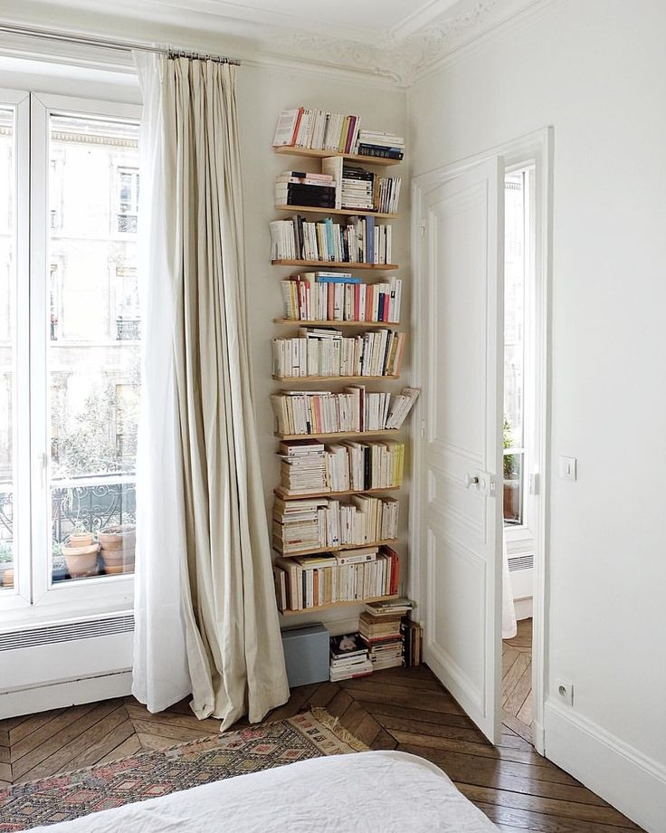 book storage in any corner for a small house