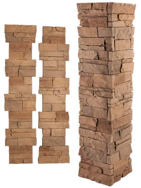 Looking For Stone Columns : Give your pillar or column the look of stone in minutes