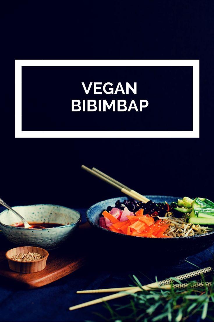 Vegan bibimbap - een Koreaans gerecht met rijst, bonen en groenten. Zonder het vlees en het ei, maar mét de overheerlijke saus en minstens net zo lekker!