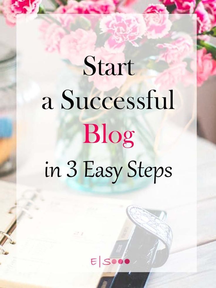 Start A Successful Blog in 3 Easy Steps