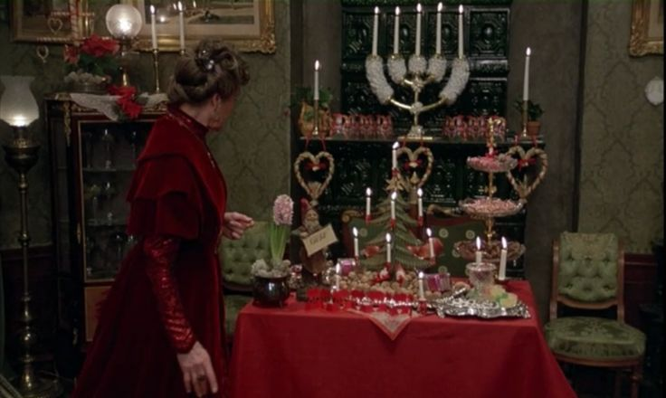 "Christmas decor includes hyacinth displays in Swedish film, ""Fanny and Alexander"""