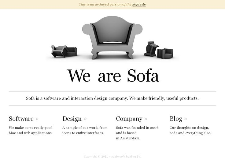 Website 'http://www.madebysofa.com/archive/' snapped on Snapito!