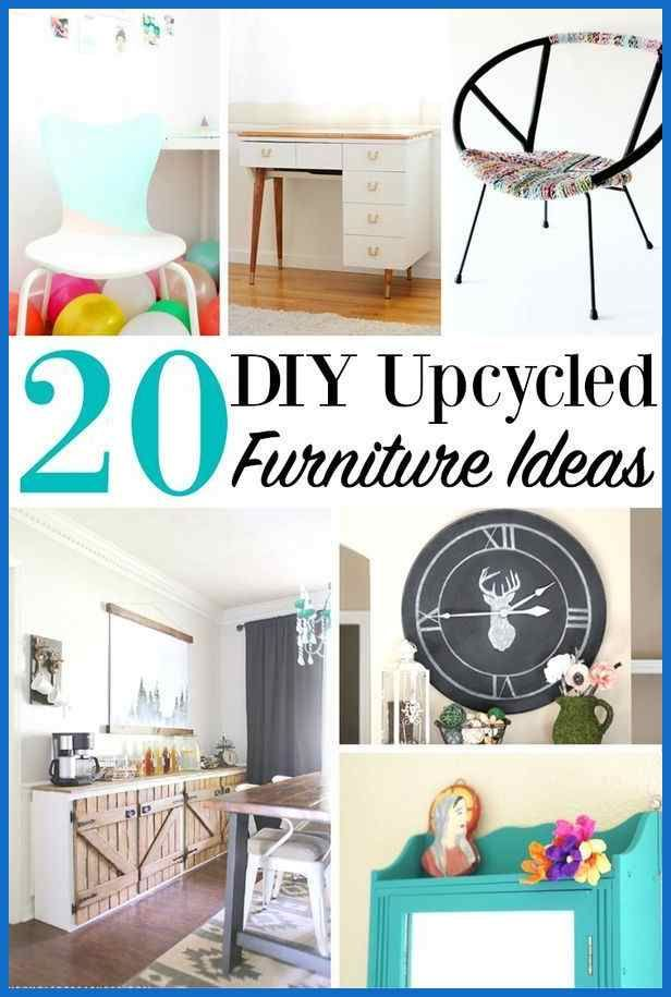 20 Diy Upcycled Furniture Ideas Home Projects Recycle Items Best Upcycled Furniture Diy Home Decor Bedroom Home Diy