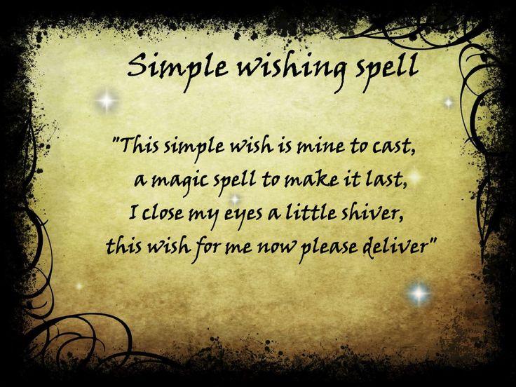 Simple wishing spell