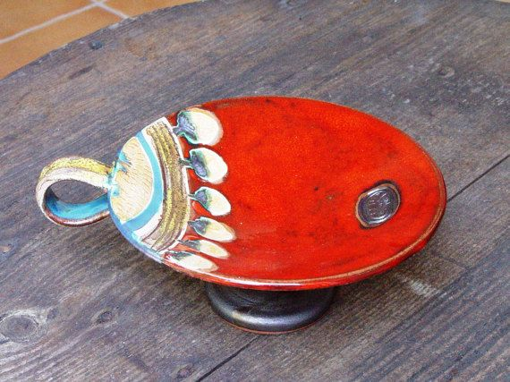 Hey, I found this really awesome Etsy listing at https://www.etsy.com/listing/229894701/ceramics-and-pottery-candle-holder-red