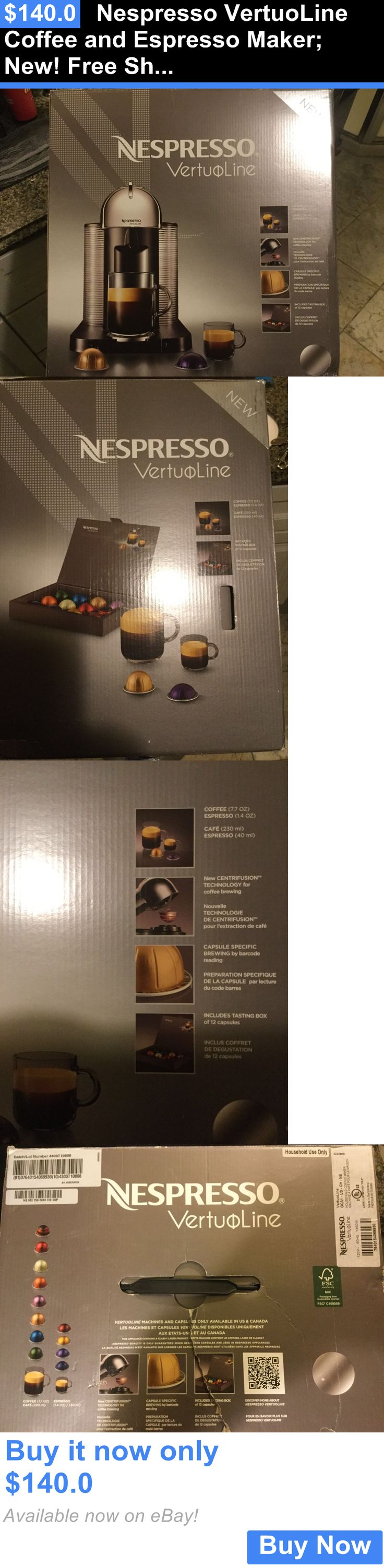 Small Kitchen Appliances: Nespresso Vertuoline Coffee And Espresso Maker: New! Free Shipping! BUY IT NOW ONLY: $140.0