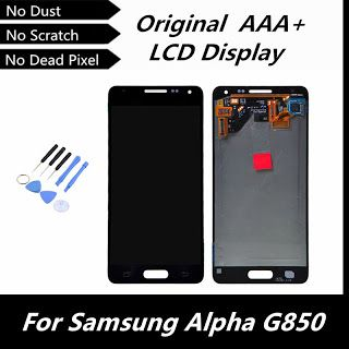 100% Original LCD Display for Samsung Galaxy Alpha G850 G850F G850M G850K G850S  Touch Digitizer Assembly WhiteGreyGold (32623686177)  SEE MORE  #SuperDeals
