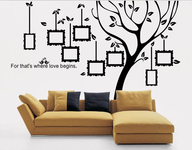 Large Family Tree Decal Photo Frame Tree Wall Sticker Black Tree Wall  Sticker Wall Part 72