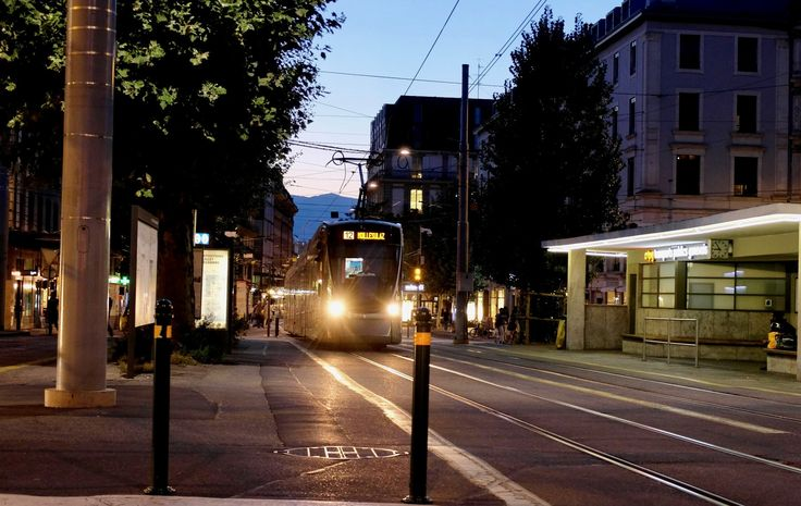 https://flic.kr/p/Csg8LW | Geneva Switzerland tram | Travel Europe without visas GENEVA SWITZERLAND The fountain JET-D'O