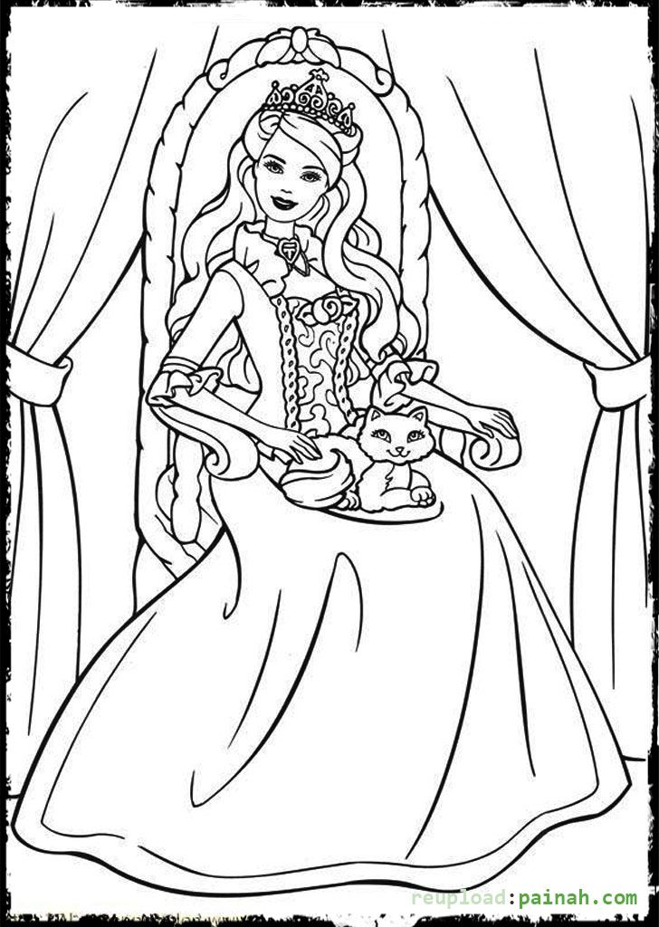 Queen Barbie Coloring Pages Princess Coloring Pages Barbie Coloring Pages Princess Coloring