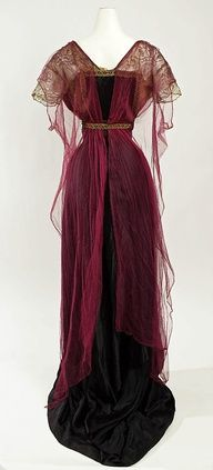 Inspired by historic fashion | www.myLusciousLife.com - Evening Dress - c. 1911 - by Callot Soeurs (French, active 1895-1937) - Silk, cotton, metallic thread, metal beads