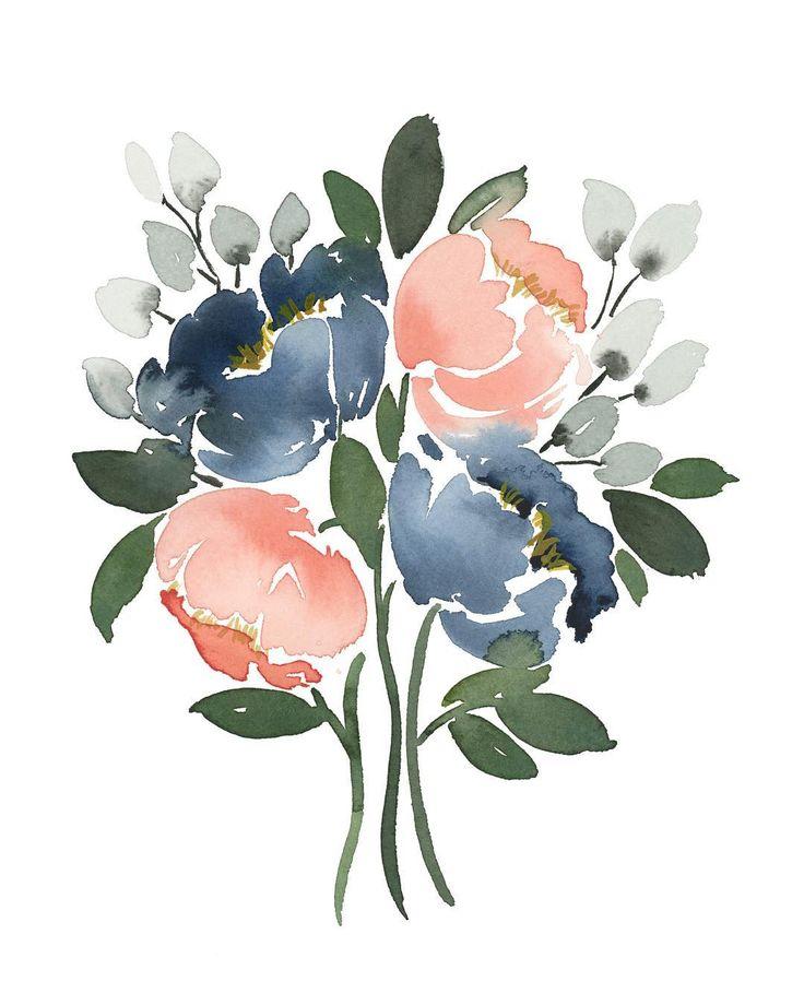 Своими руками, акварель цветы для открыток