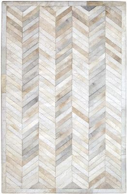 Love, Love, Love! Chevron Hide Rug - Cream | Scenario Home