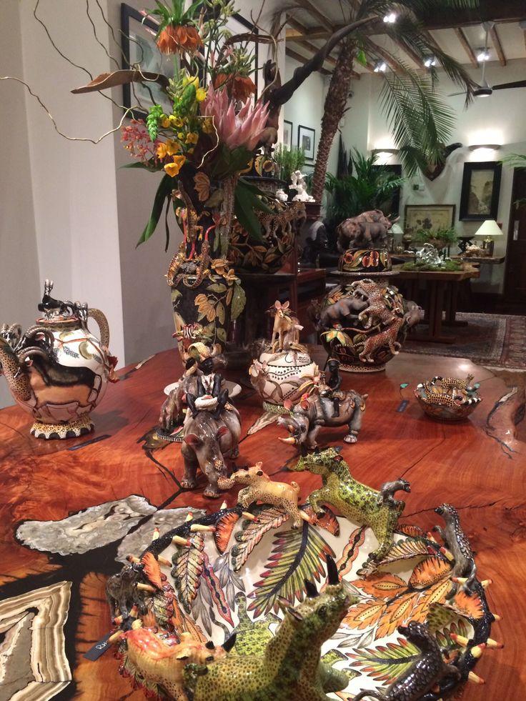 Ardmore's 'Animal Botanical' exhibition at Patrick Mavros, London.