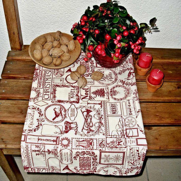 Ubrus+vánoční+30x130+Bavlněný+ubrus+s+potiskem+vánočních+motivů.+Vínový+tisk+na+smetanové.+Rozměr:+cca+60+x+130+cm+Zboží+je+opatřeno+originální+visačkou+(viz.+profil)+Ostatní+dekorace+je+neprodejná+a+není+zahrnuta+v+ceně.+Výrobek+byl+vytvořen+s+láskou+v+nekuřáckém+prostředí+bez+zvířecích+alergenů+:-)+