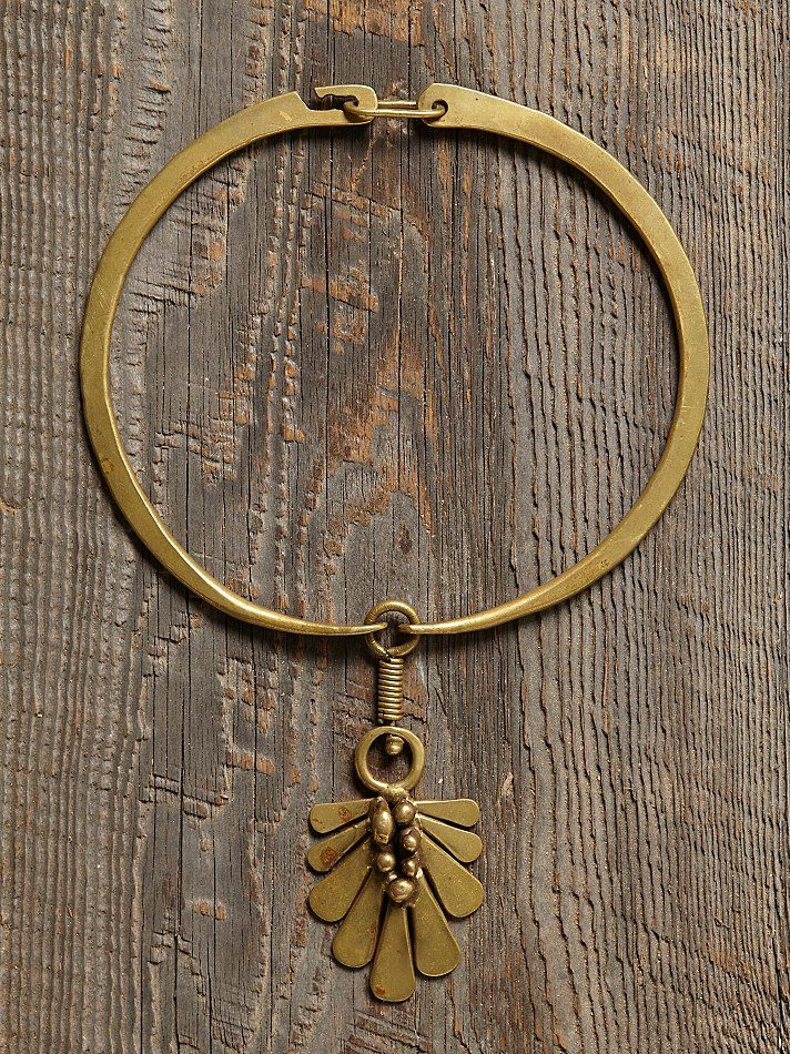 jack boyd, vintage brass necklace