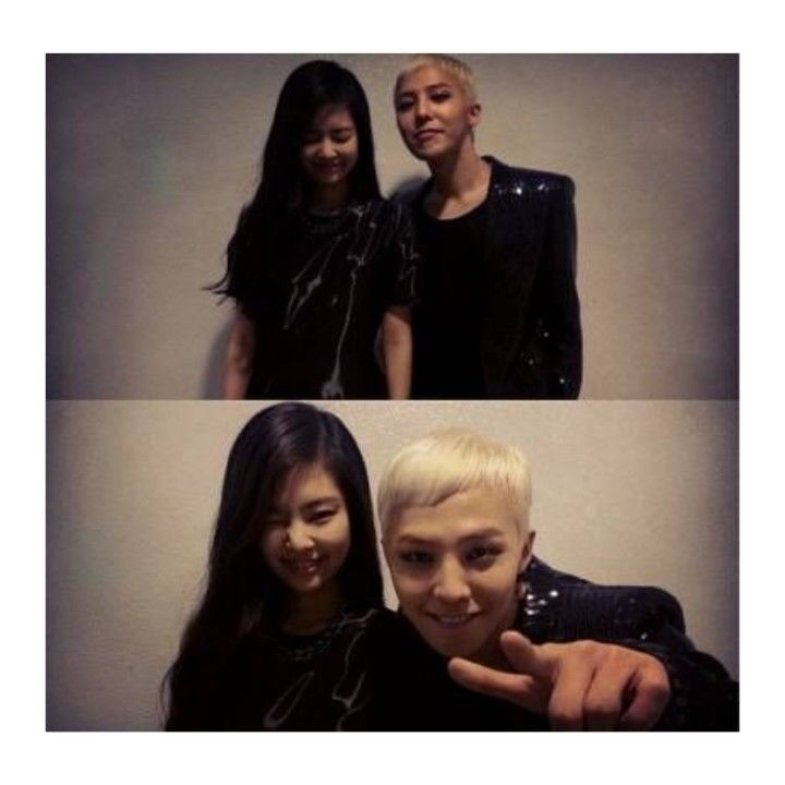 Jennie Kim with GD. She performed Black with him. Pink Punk.