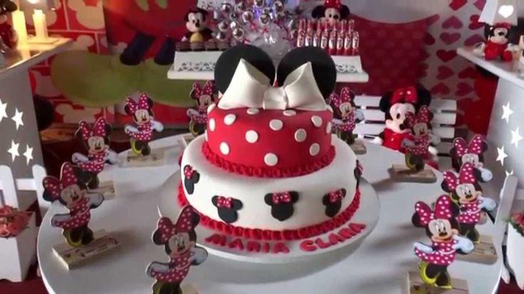 Tema da Minnie Mouse para decoração de festa de aniversário infantil