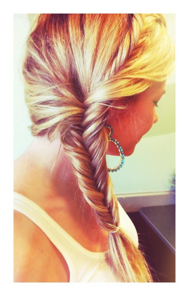 Cute Hairstyle with Fishtail Braid