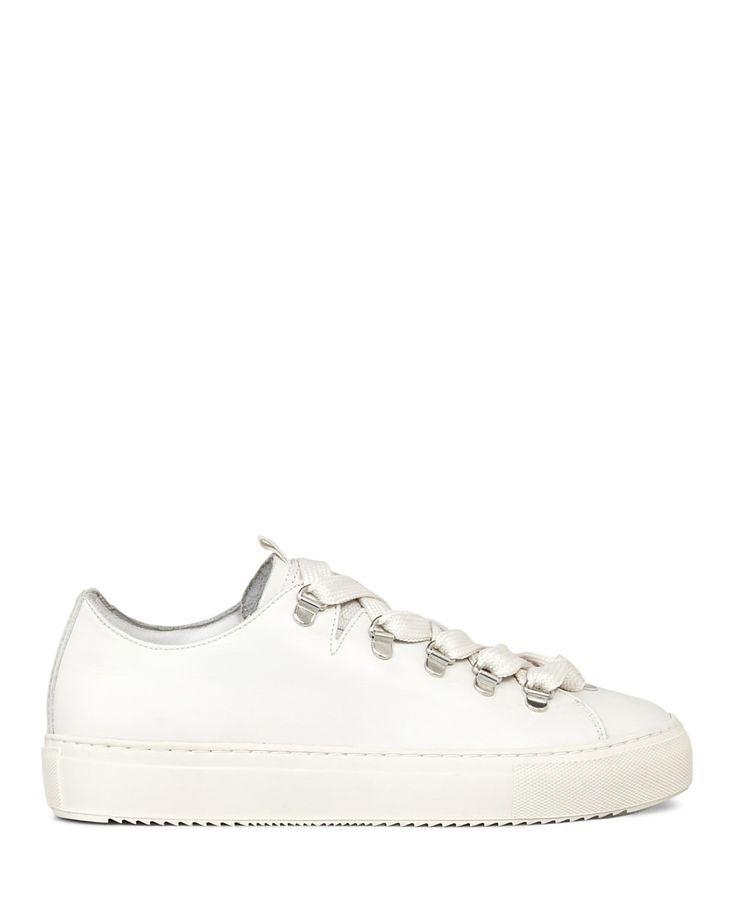 ALLSAINTS ALLSAINTS Women's Bailey Leather Lace Up Sneakers. #allsaints #shoes #