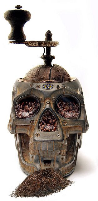 Skull Coffee Grinder: Skulls, Idea, Coffee Grinder, Stuff, Things, Steampunk