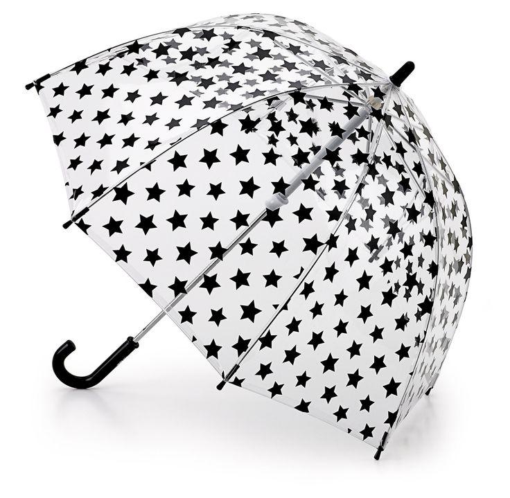 Stylowy #parasol #dla_dziewczynek w gwiazdki Black Star, #Fulton
