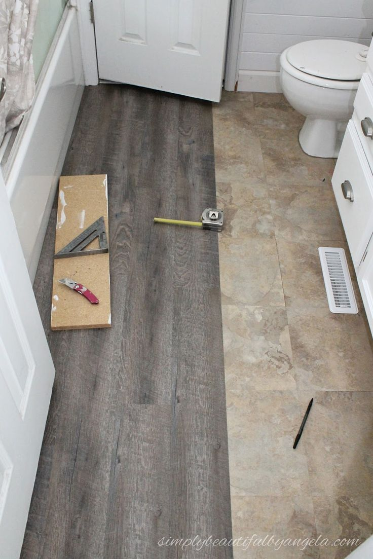 Applying Peel And Stick Floor Tiles Bathroom Tile Floor Makeover Small Bathroom Tile Idea Ap Cheap Bathroom Flooring Floor Makeover Peel And Stick Floor