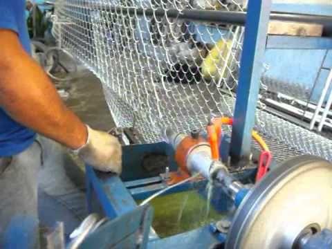 Maquina para fabricar telas de arames alambrados - YouTube