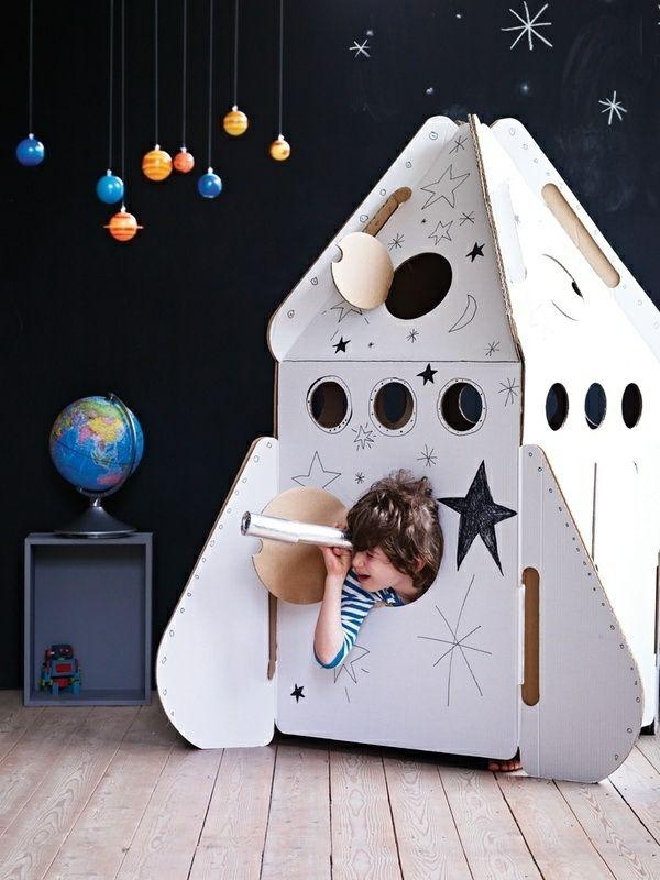 Deko Ideen Kinderzimmer Jungen Planeten Weltall Motto