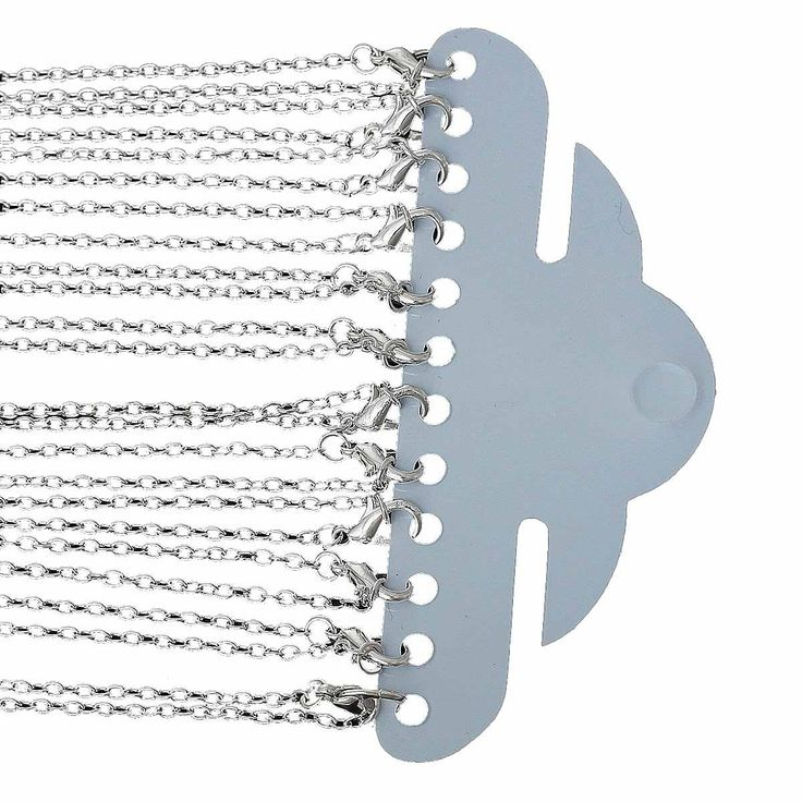 Amazon.com: Rockin Beads 12 Pack Silver Plated Lobster Clasp Link Chain Necklaces 24 Inch