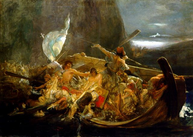After the destruction of Psara by Nikolaos Gyzis, oil on canvas, National Gallery of Greece
