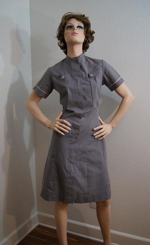 Vintage 1950s Gray Nurses Uniform 40s 50s Boyd Cooper